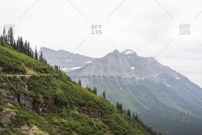 Mountain landscape in Montana - Offset
