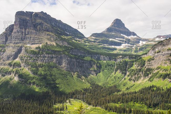 Mountain peak in Glacier National Park