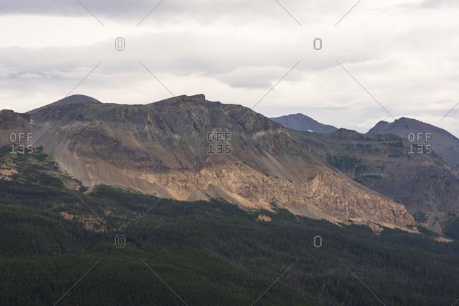 Landscape of mountains in Glacier National Park, Montana