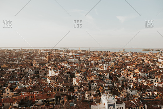 Elevated view over Venice, Italy