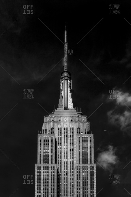 New York City, NY, USA - April 27, 2016: The Empire State Building in Midtown Manhattan