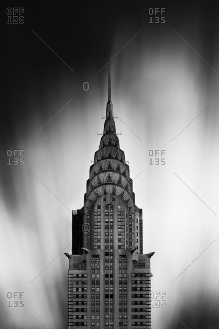 New York City, NY, USA - October 24, 2016: The Chrysler Building is an Art Deco skyscraper in Manhattan