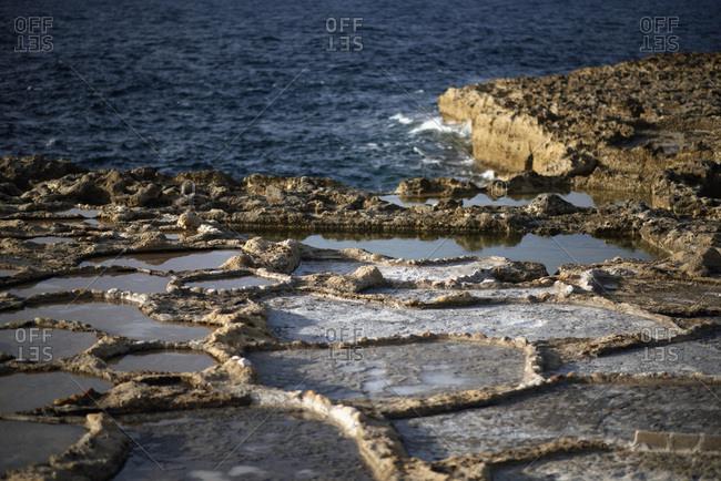 Detail of rough muddy textured seashore