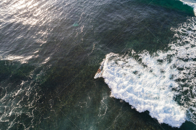 Aerial view of beautiful seascape