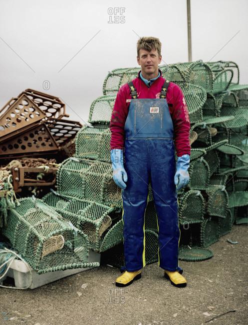 May 7, 2017: Portrait of fisherman, Isle of Mull, Scotland, UK