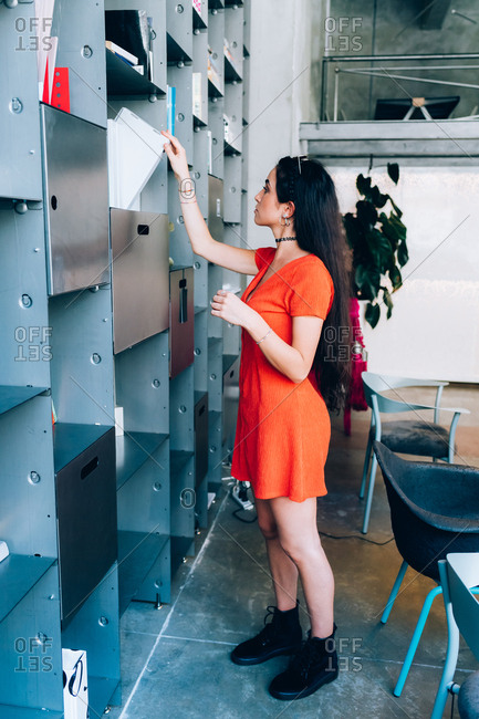 Young woman working in an office