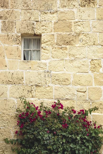 Traditional limestone building in Malta