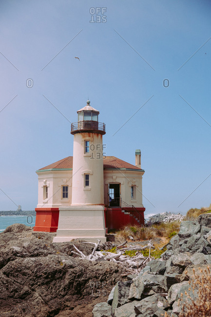 Historic Coquille River Light lighthouse, along the southern Oregon coast