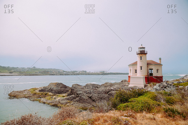 Historic Coquille River Light lighthouse, part of Bullards Beach State Park, Oregon