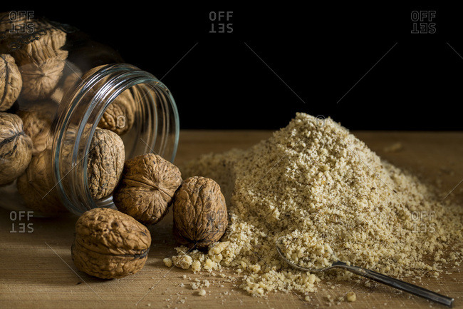Whole Walnuts & Ground Walnuts.