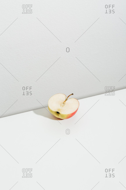 Half of a sliced apple