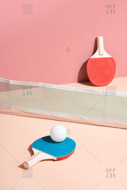 Pink ping pong table