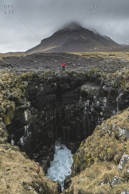 Iceland- North of Iceland- man in landscape