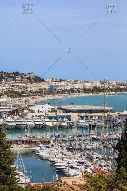 France- Cannes- Cote d'Azur- French Riviera- view above port
