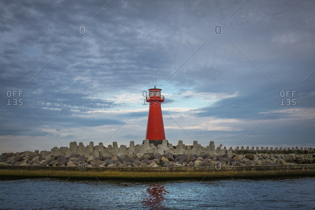 Poland- Gdansk Bay- view to old lighthouse