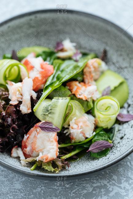 Closeup of Nordic vegetable recipe
