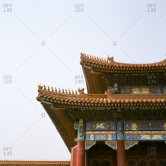 Detail of ornate Chinese style roof
