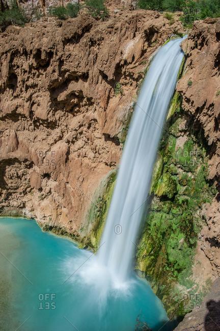 A waterfall at Havasu Canyon