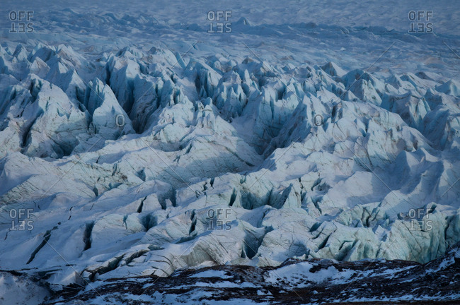 The edge of the Greenland ice sheet near the Russell Glacier