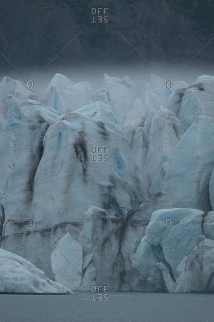 Fog over Bear Glacier in Kenai Fjord National Park
