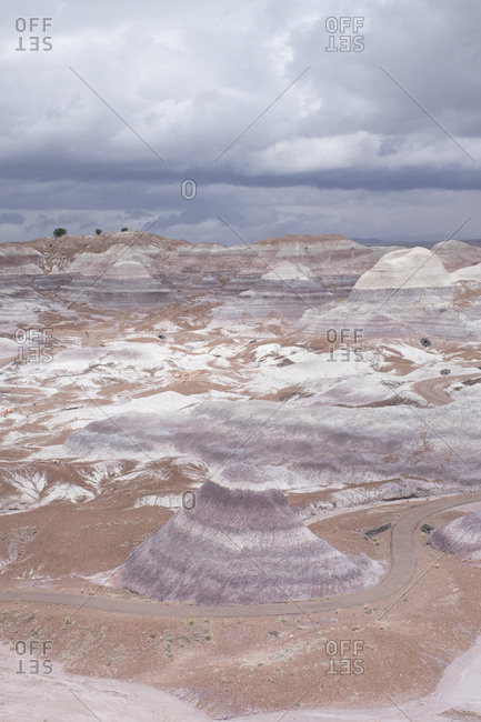 Overlook on to the Blue Mesa region of Petrified Forest National Park