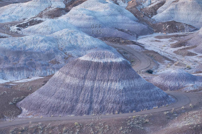 The Blue Mesa region of Petrified Forest National Park