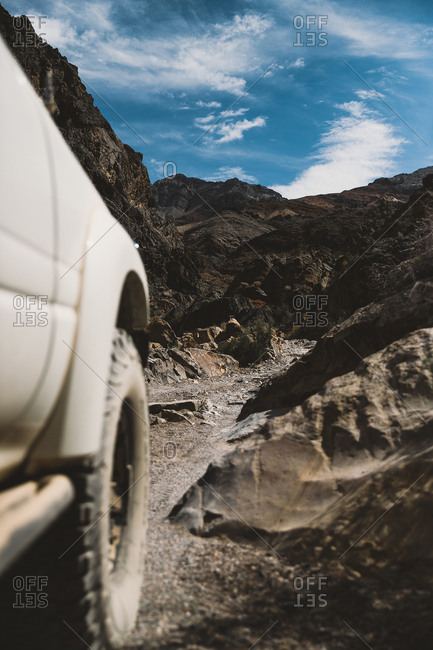 Vehicle on trail in Death Valley