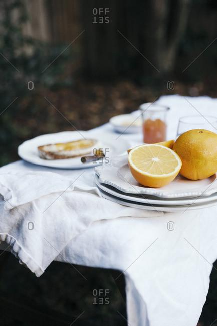 Jam and toast breakfast