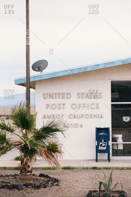 Amboy, California - March 4, 2017: Exterior view of United States Postal Service office