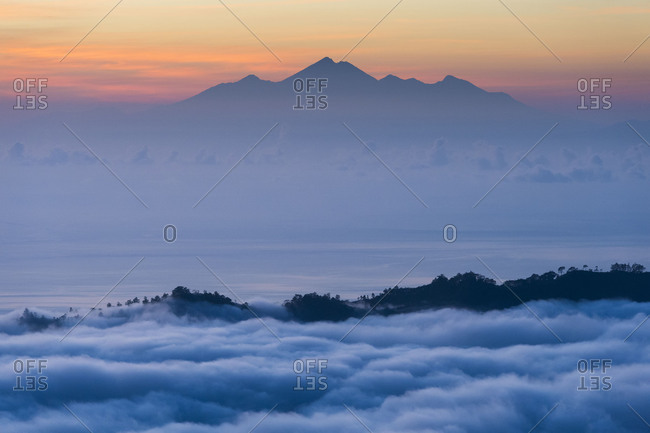 The Gunung Rinjani in the daybreak