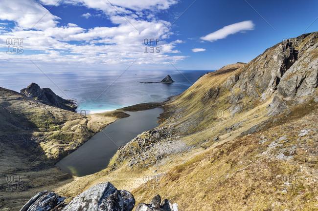 Europe, Norway, Vesteralen, Nordland, Bleik, Matind beach