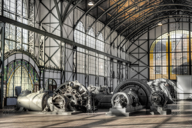 Industrial museum LWL coal-mine to Zollern, machine hall, Dortmund-Bovinghausen, North Rhine-Westphalia, Germany