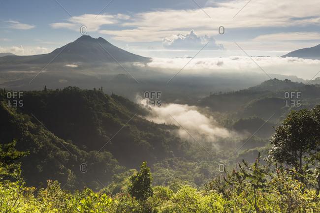 The Gunung Batur and the Danau Batur