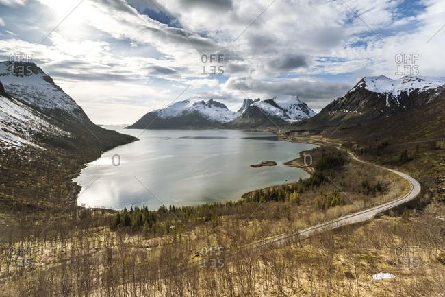 Europe, Norway,  Nordland, Senja, Bergsbotn, Bergsbotn Utsiktsplattform