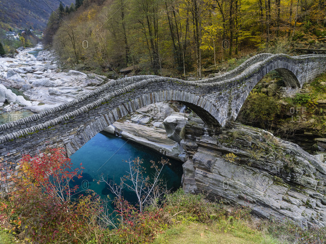 Roman bridge in the Verzasca Valley