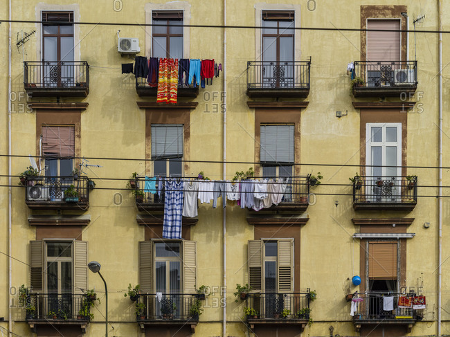 Laundry on the balcony