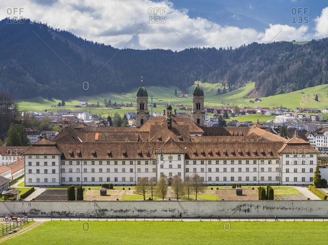 November 30, 2017: Monastery complex of Einsiedeln in Switzerland