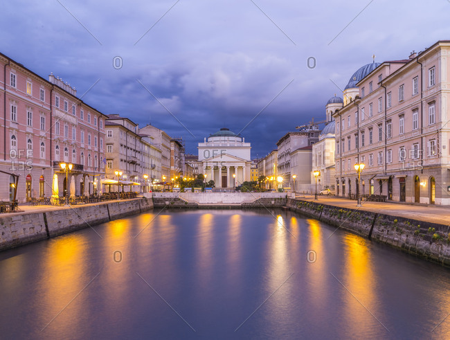 Afterglow over the Canal Grande in Trieste