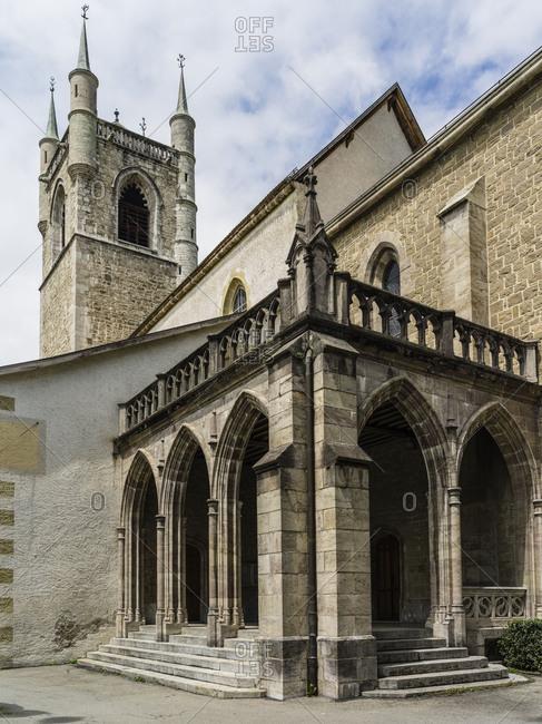 Church St. Martin in Vevey at the Lake Geneva