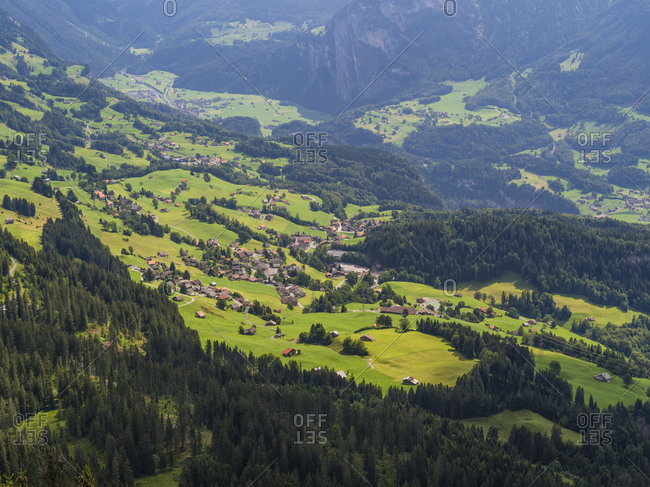 Haslital in the Bernese Oberland in birds-eye view