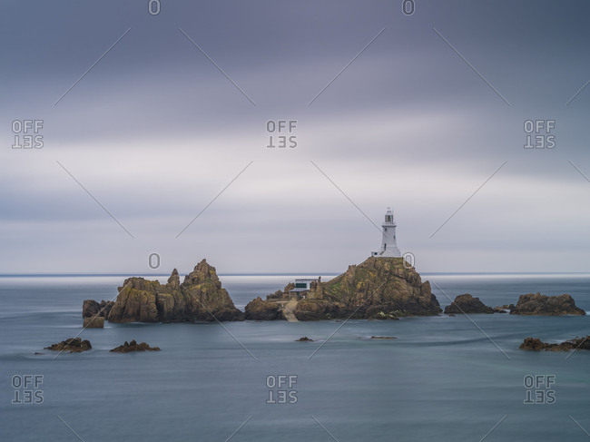 Atmospheric picture Corbiere Lighthouse on Jersey
