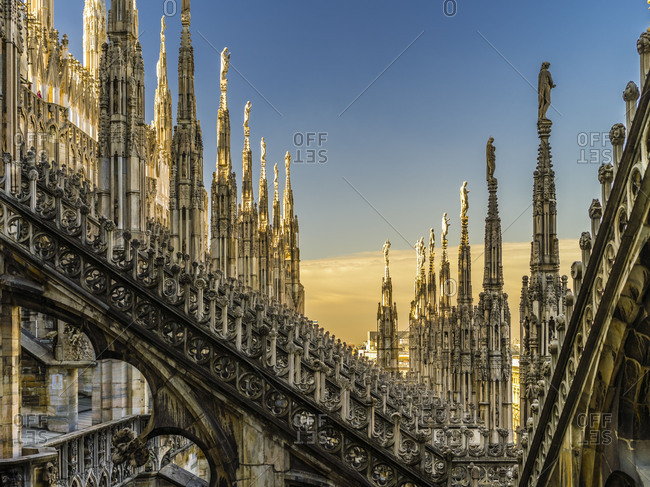 November 30, 2017: Roof of the Milan cathedral