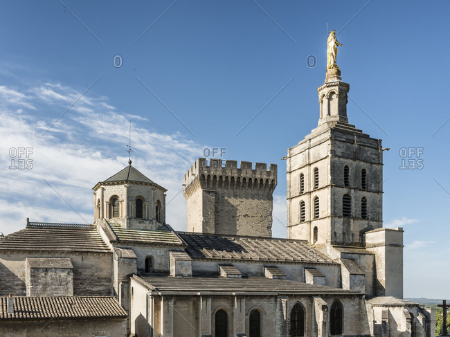 France, Provence, Vaucluse, Avignon, Cathedral of Notre Dame,