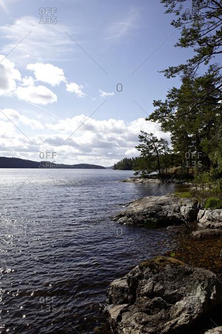 Wild landscape on Stora Le Lake, Dalsland, Gotaland, Sweden