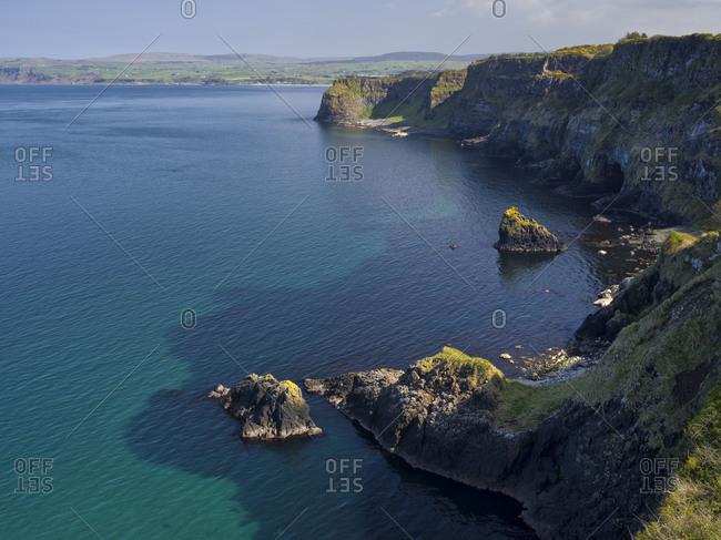 Northern Ireland, Antrim, Causeway Coast, steep coast on the Rathlin Sound