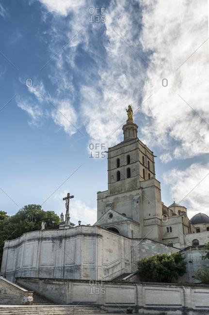 France, Provence, Vaucluse, Avignon, Cathedral of Notre Dame, at Place du Palais,