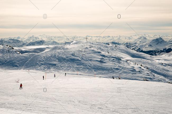 January 23, 2018: Steinplatte (mountain) near Reit im Winkl, Chiemgau