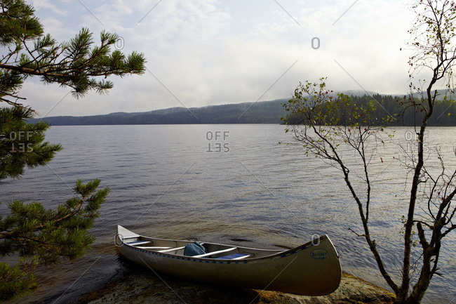 Canoe tour, Lelang Lake, Dalsland, Sweden