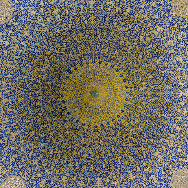 Ceiling vault in Imam Mosque in Isfahan