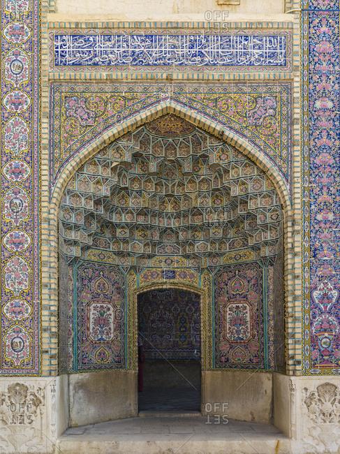 Inner courtyard of the Nasir al-Mulk Mosque / Pink Mosque in Shiraz